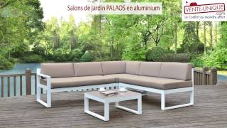 Salons de jardin PALAOS - En aluminium - Gris/Taupe
