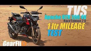 Apache RTR 200 4V Race Edition 2.0 - 1Ltr Mileage Test