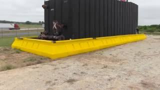 Containment Wall - Hard walled, high capacity spill containment