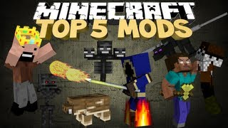 Minecraft: TOP 5 MODS FOR MINECRAFT 07:37
