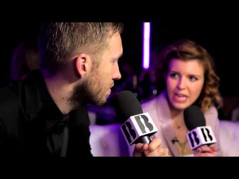 Georgia LA with Calvin Harris | Backstage at The BRITs 2014