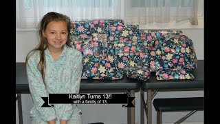 Kaitlyn Turns 13|| PRESENT OPENING || Large Family of 13