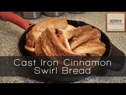 Cast Iron Cinnamon Swirl Bread
