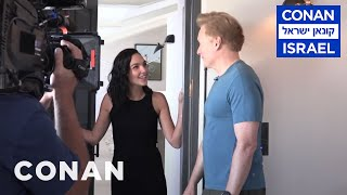 Behind The Scenes Of Gal Gadot's #ConanIsrael Cameo  - CONAN on TBS