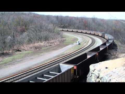 Loud SD60I on a 539 at Bennington Curve
