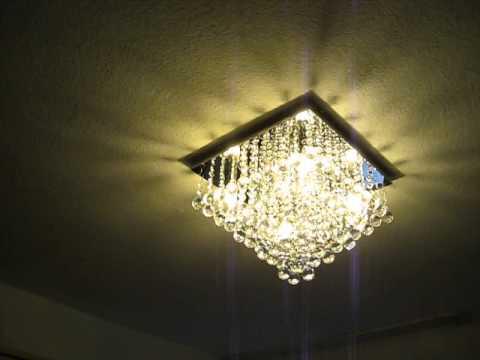kristall deckenlampe 38cm kronleuchter deckenleuchte chrom. Black Bedroom Furniture Sets. Home Design Ideas
