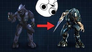 ¿Por qué cambió la apariencia del Covenant en Halo 4?
