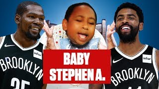 Baby Stephen A. reacts to the Knicks missing out on Kevin Durant, Kyrie Irving | ESPN