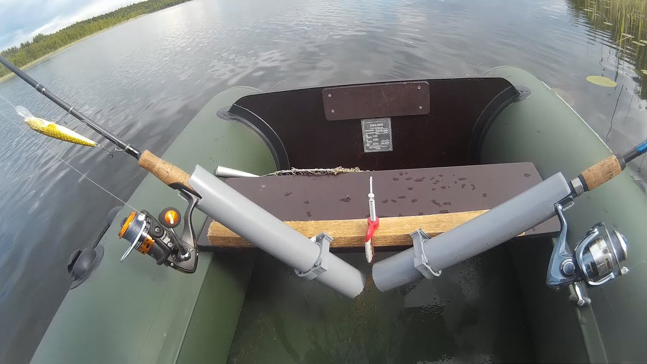 Троллинг с лодки видео