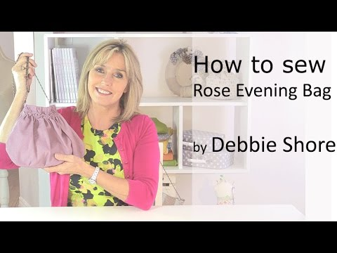 Spiral Rose Evening Bag. a sewing tutorial by Debbie Shore
