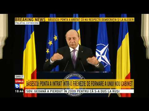 Conferinta Traian Basescu - video integral