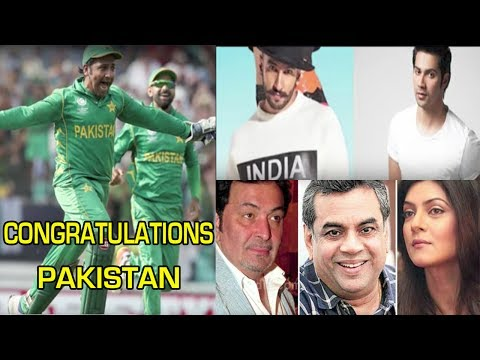 Bollywood Celebrities Congratulate Pakistan On Winning Champions Trophy 2017