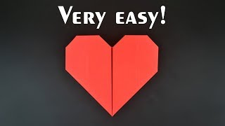 Easiest Origami Heart Ever! - Tutorial in English (BR)