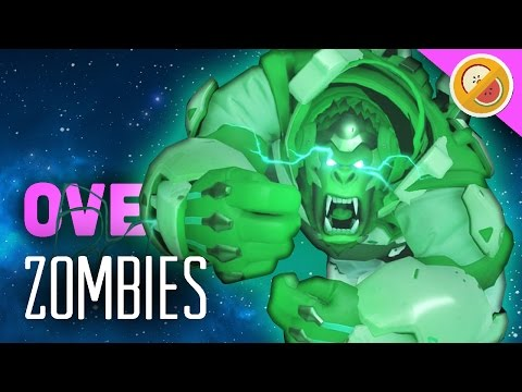 ZOMBIES! Overwatch Custom Game Gameplay (Funny Moments)