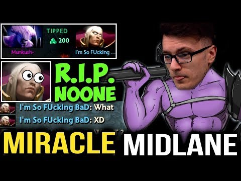 MIRACLE- Midlane Faceless Void Outplay Noone Like a Boss - ft Matumbaman MC Dota2