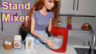 How to make a doll stand mixer (kitchen)  - miniature crafts DIY