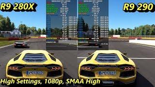 AMD R9 280X VS R9 290 1080P Gaming Performance   Intel i7 8700K 5.1GHz