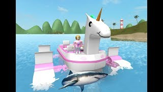 Roblox Escape Sharkbite With Molly & Her Unicorn!