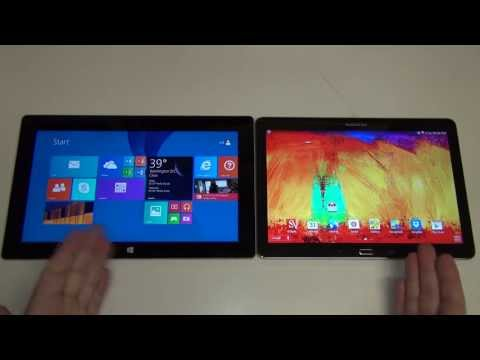 Microsoft Surface 2 vs Samsung Galaxy Note 10.1 2014 Edition