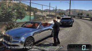 GTA 5 - Siêu xe Rolls-Royce Dawn đi quậy bị cảnh sát rượt và phạt tiền | ND Gaming