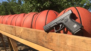 how many basketballs does it take to stop a bullet?