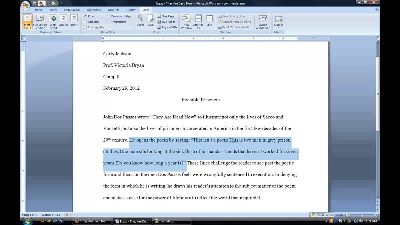 four parts research paper