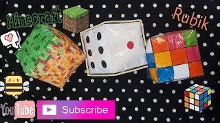 Cách làm squishy giấy 3D hình khối minecraft,rubik, xí ngầu! Paper squishy 3D Minecraft | Bee Bee