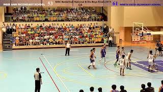 Basketball National B Div Boys Finals 2019 NASS VS NVSS - Q4