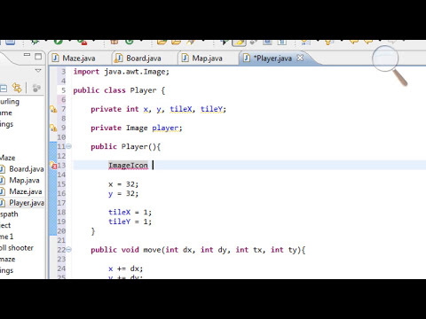 Java Maze Game Tutorial - 5 (part 1/2) - Player Class