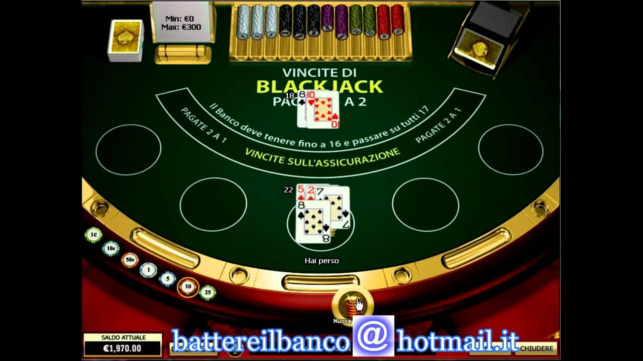 guadagnare soldi blackjack