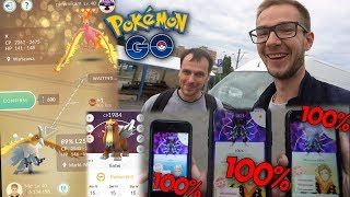 4x 100%?! LUCKY TRADE! RAID HOUR! PVP! POKEMON GO WARSZAWA