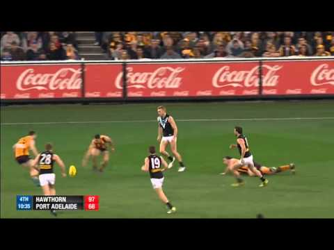 Hawthorn Hawks v Port Adelaide Power Q4 AFL Prelim Final 2014