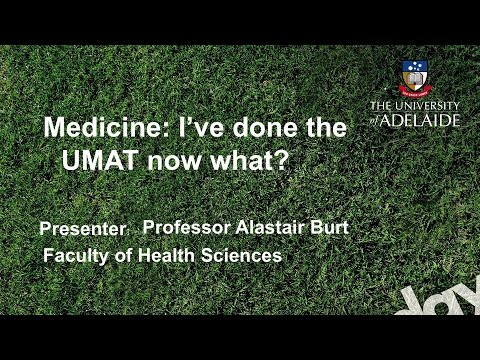 Medicine Talk - Open Day 2014 - The University of Adelaide