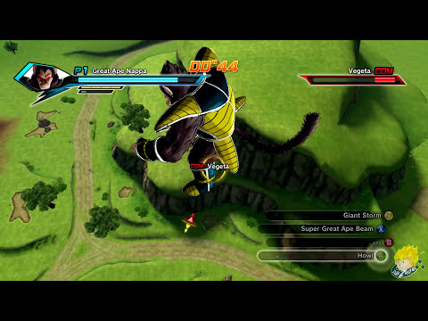 Dragon Ball Xenoverse (PC): Great Ape Nappa Gameplay [MOD] 【60FPS 1080P】