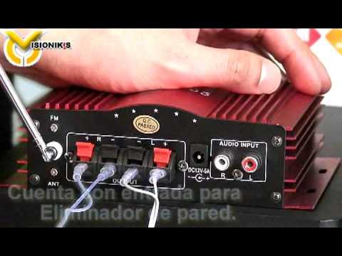 Amplificador 1200w poder absoluto con usb y sd radio - Amplificador de antena ...