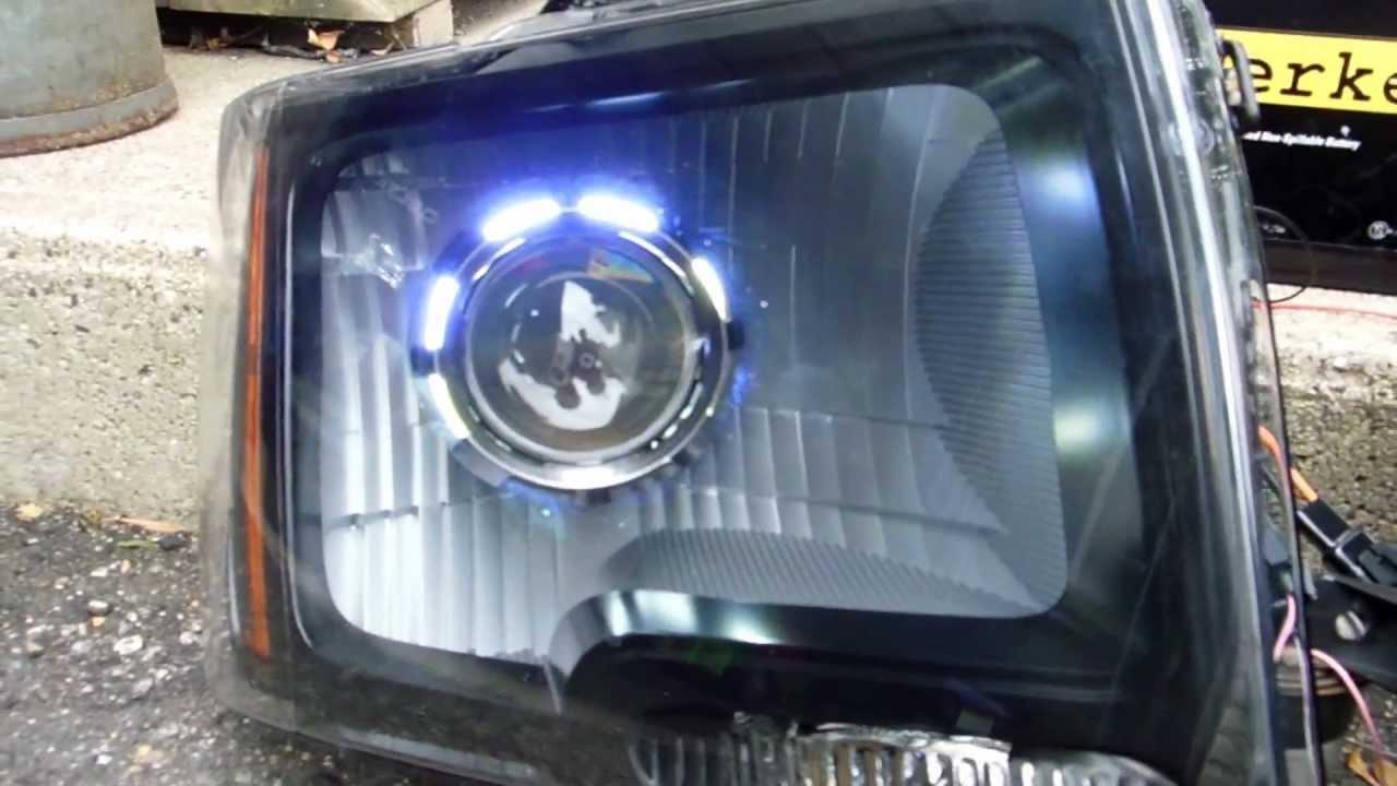 Ford F150 Headlights >> 2009-2012 F150 Projector Retrofit Headlights and Fog Lights - YouTube