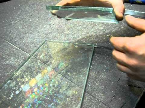 Как фигурно вырезать стекло в домашних условиях