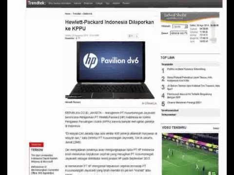 Hewlett Packard Indonesia lose in court and charged for 159 billion rupiahs [Online News]