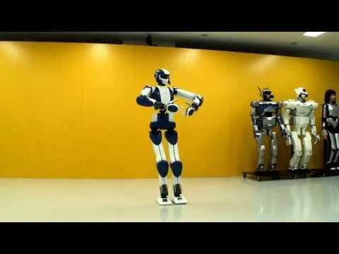 [HD]Robot Walking Like Your Girlfriend - HRP 4 Humanoid Robot