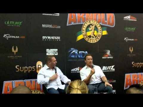 Arnold Schwarzenegger confirmsmaking of Triplets new Conan @ Arnold Classic Melbourne