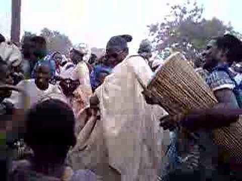 Damba dance and drumming at an enskinment ceremony in Nanton, Ghana. www.sohoyini.com.