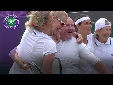 Kim Clijsters gives man tennis skirt for hit at Wimbledon 2017 thumbnail