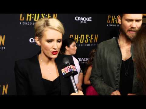 Nicky Whelan Talks Chosen Season 2 On the Crackle Red Carpet!