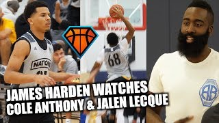 James Harden Watches Cole Anthony & Jalen Lecque FIGHT OFF a Tough Latin American Squad in OT!!