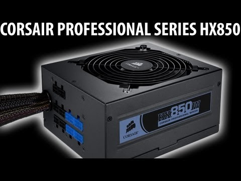 CORSAIR HX850 Power Supply Review   DIY Gaming PC Build