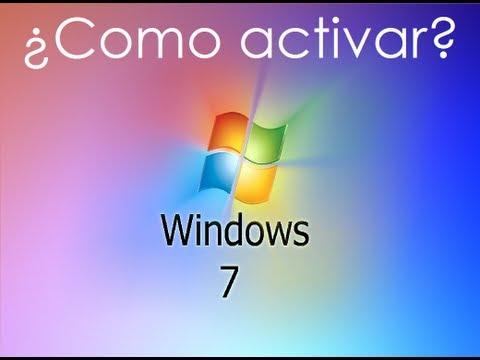 Como activar Windows 7 ( cualquier verción con seriales)