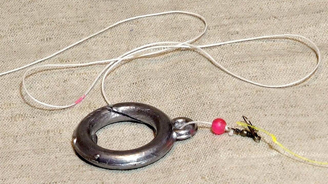 Как сделать поводок для рыбалки на кольцо