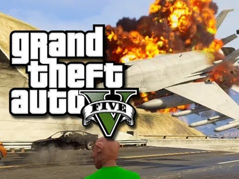 GTA 5 Online Stunts! - Flying Jets Through Tunnels! (GTA V Fails and Funny Moments!)