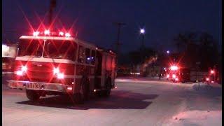 Winnipeg Fire Engine 103, Engine 101 & Ladder 1 Responding