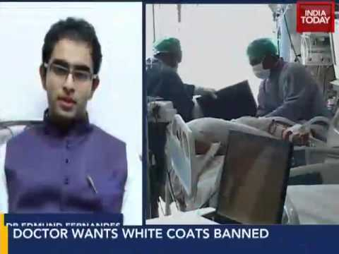 Ban Indian doctors from wearing white coats